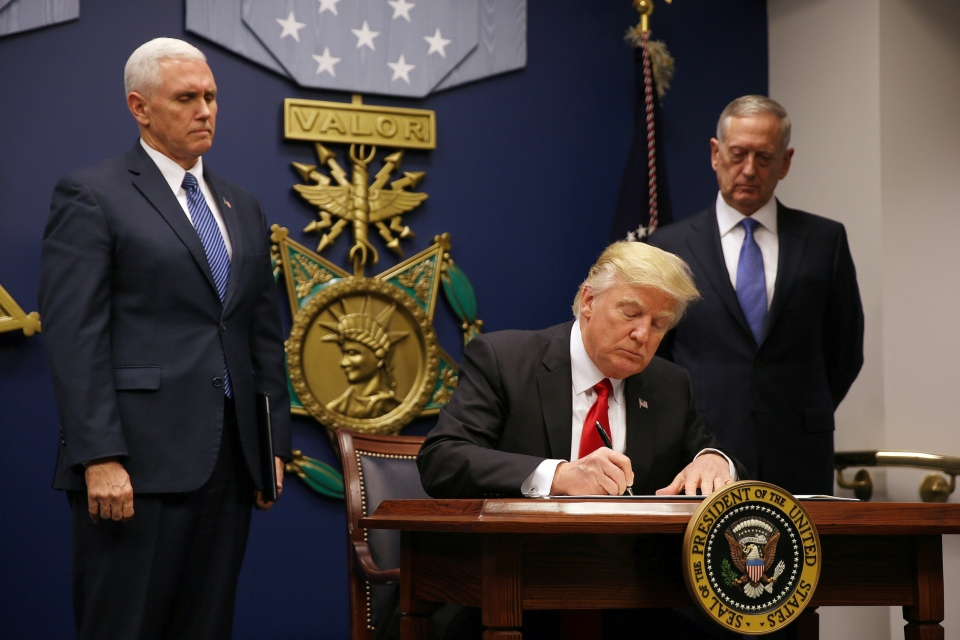 Image: President Donald Trump Travel Ban