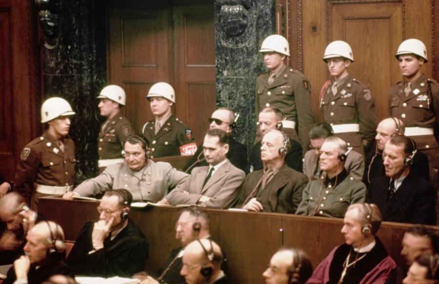 Defendants At Nuremberg Trials